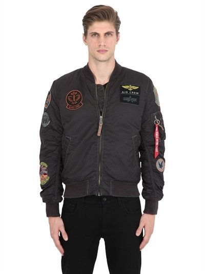 99e33478eee ALPHA INDUSTRIES MA-1 PILOT BOMBER JACKET W  PATCHES