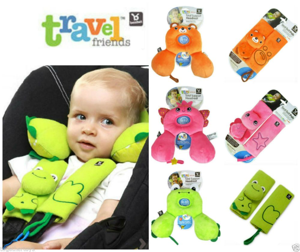 Benbat infant baby travel neck support pillow seat belt strap cover car seat
