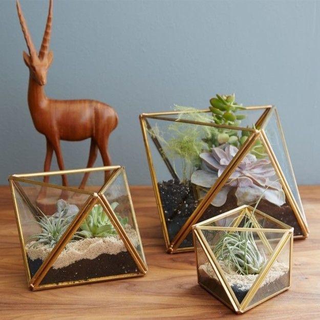 Este juego de terrarios geométricos para darle un nuevo hogar a tus plantas ($424-$509). | 17 Hermosas cosas que vas a querer aunque no seas un neohipster