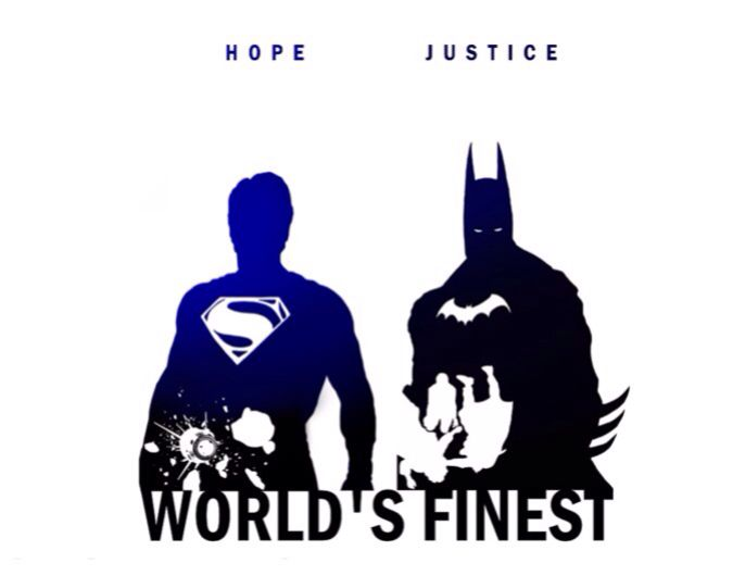 World's Finest- Hope & Justice Superman and Batman by Steve Garcia