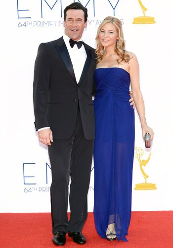 Jon Hamm and Jennifer Westfeldt #MadMen #Emmys