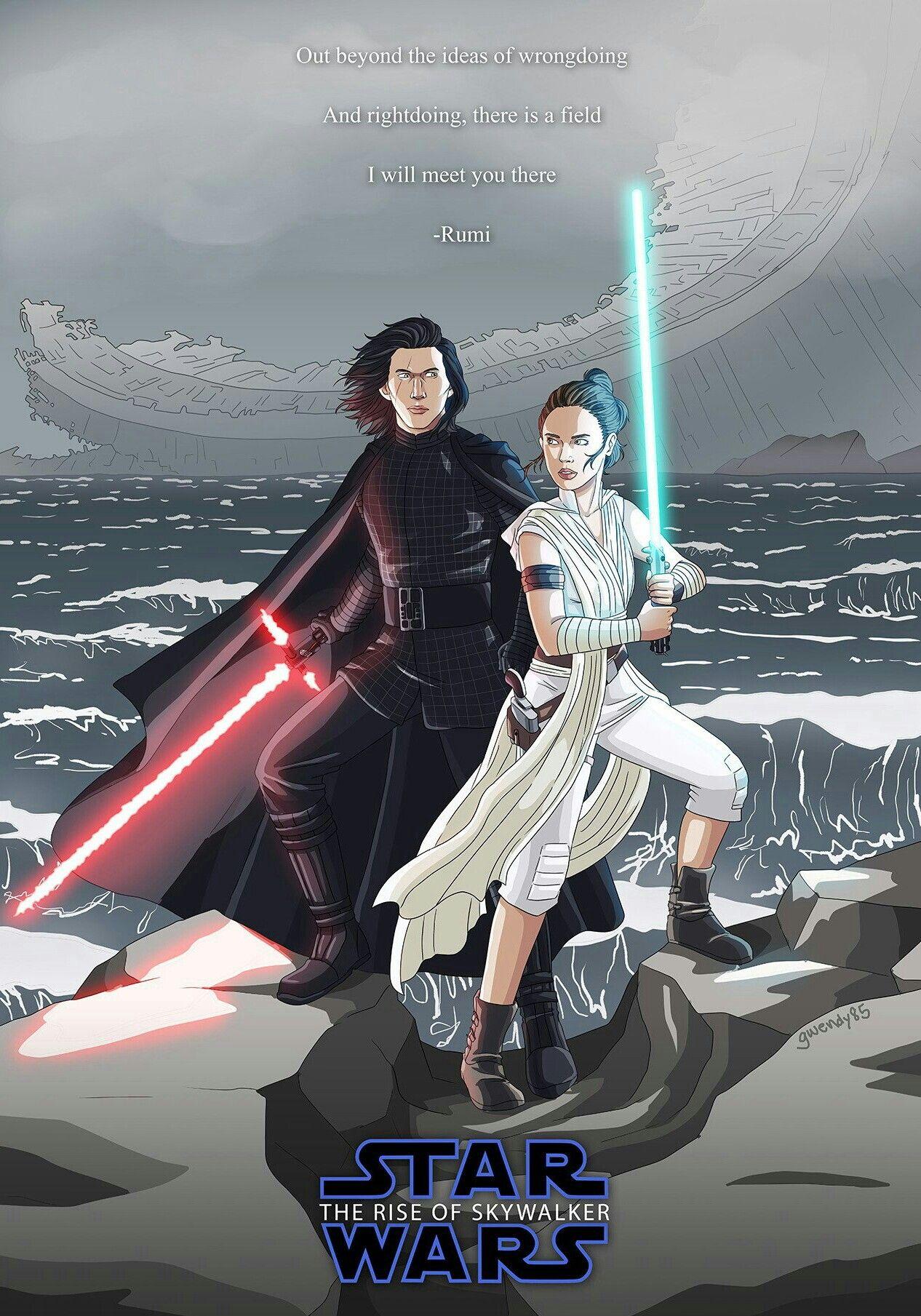 Kylo Ren And Rey Star Wars Humor Star Wars Fandom Star Wars Art