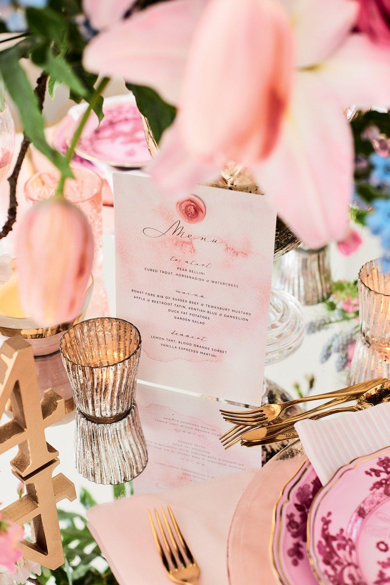 Pink And Gold Wedding Ideas Inspiration Bridesmagazine