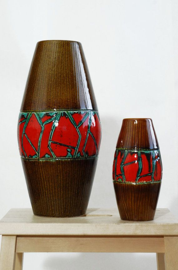 vintage ceramic vase / west germany / ceramic / by ThriftMachine, kr200.00