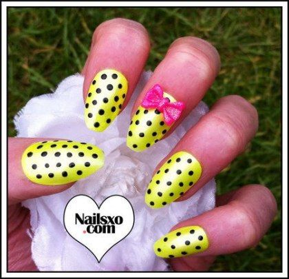 nails summer almond neon yellow 37 ideas  nail art summer