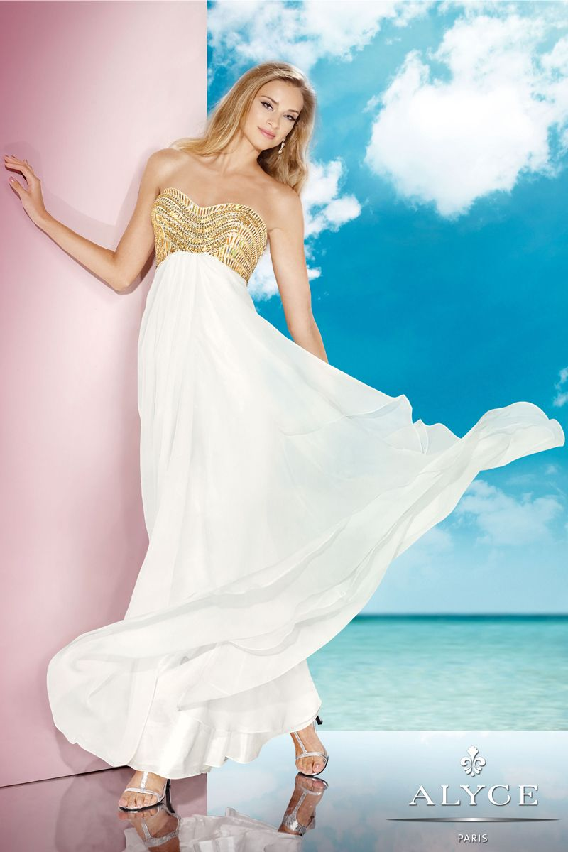 Alyce Ivory Prom Gown 35577 | Prom, Ivory and Gowns