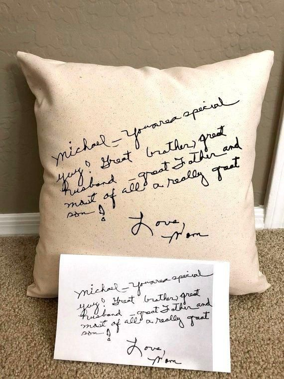Personalized handwriting pillow