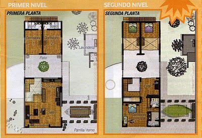 planos de casas pequenas 2 pisos