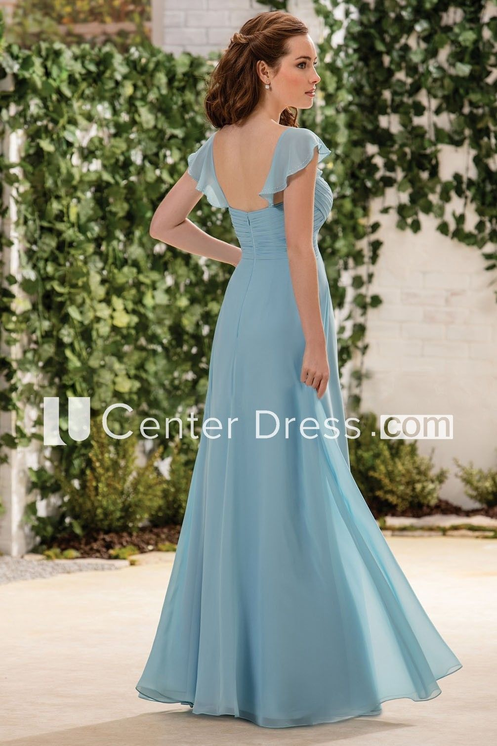 Cap-Sleeved A-Line Bridesmaid Dress With Crisscross Ruching And ...