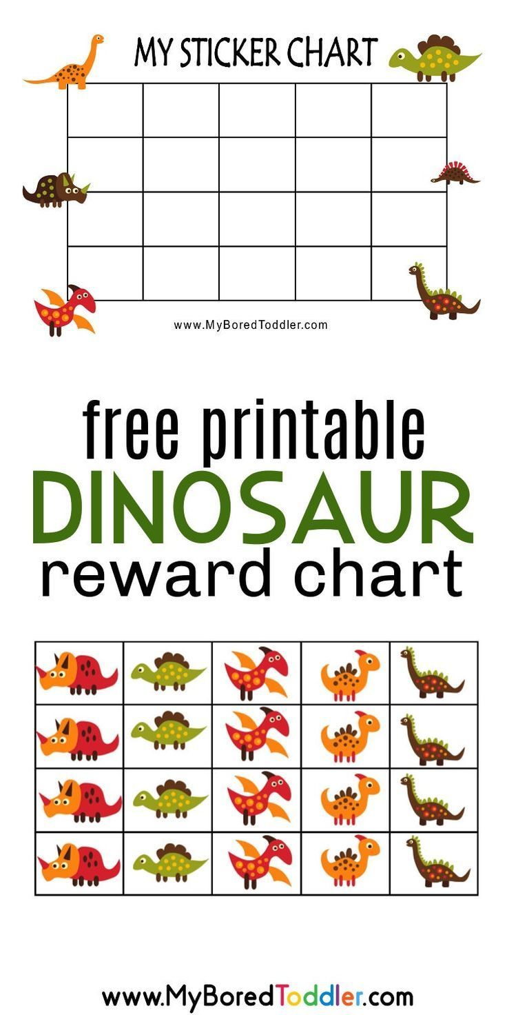 A Free Printable Dinosaur Reward Card Can Be Used As A Sticker Card For Dinosaurs Crafts For Toddlers Reward Chart Kids Printable Reward Charts Preschool Reward Chart