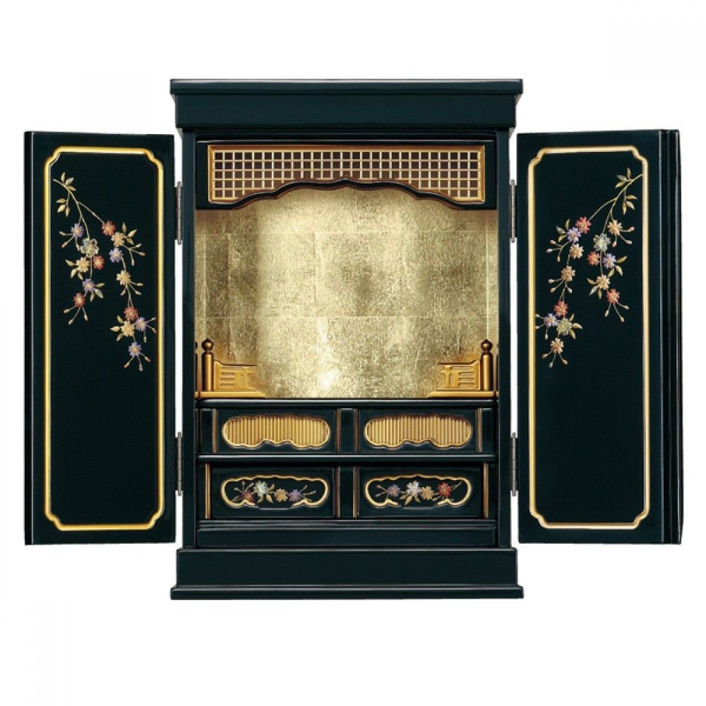 Japanese Buddhist Altar Butsudan Furniture Interior Cabinet Prunus Yedoensis
