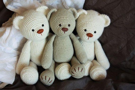 Crochet Amigurumi Teddy Bear PATTERN - Lucas the Teddy - Classical ...