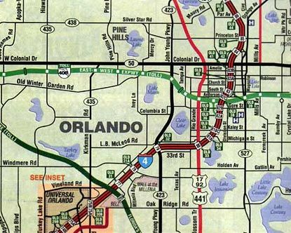 Map Of Orlando Florida.Orlando Map Disney Pinterest