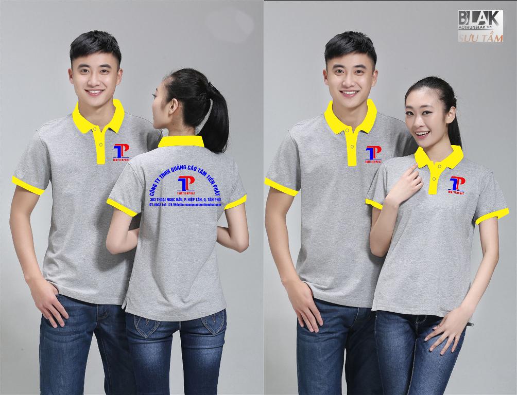 Mẫu áo thun đồng phục công ty Quảng Cáo Tâm Tiến Phát - Hình 3