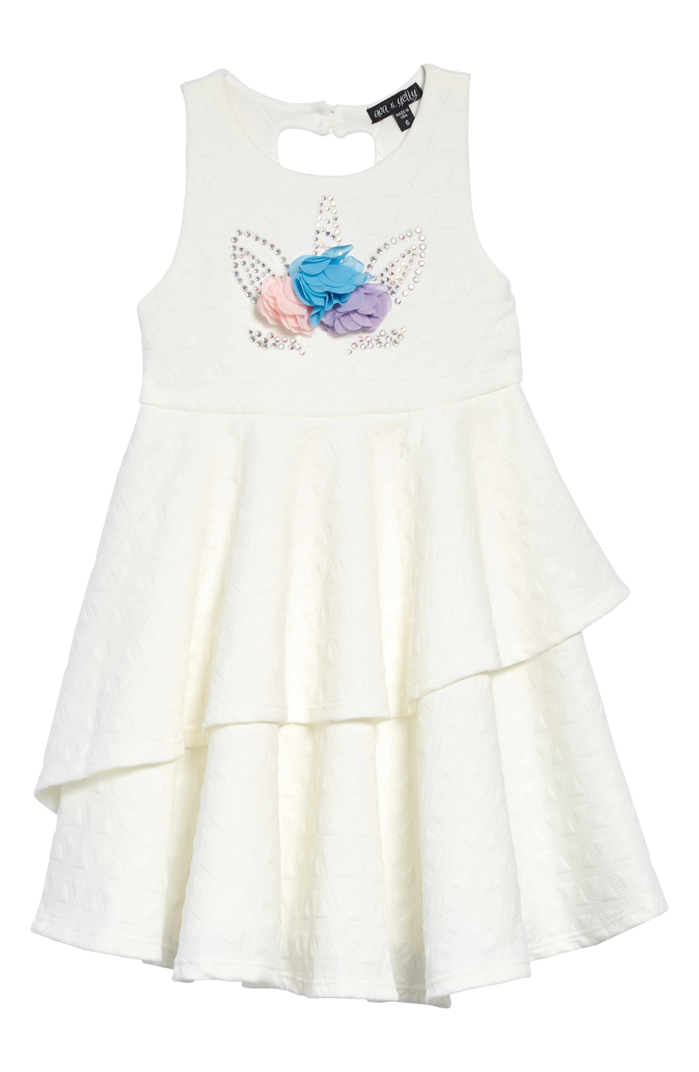 Toddler Girl S Ava Yelly Tiered Dress Size 2t White Toddler Dress Unicorn Dress Unicorn Dress Toddler [ 4048 x 2640 Pixel ]
