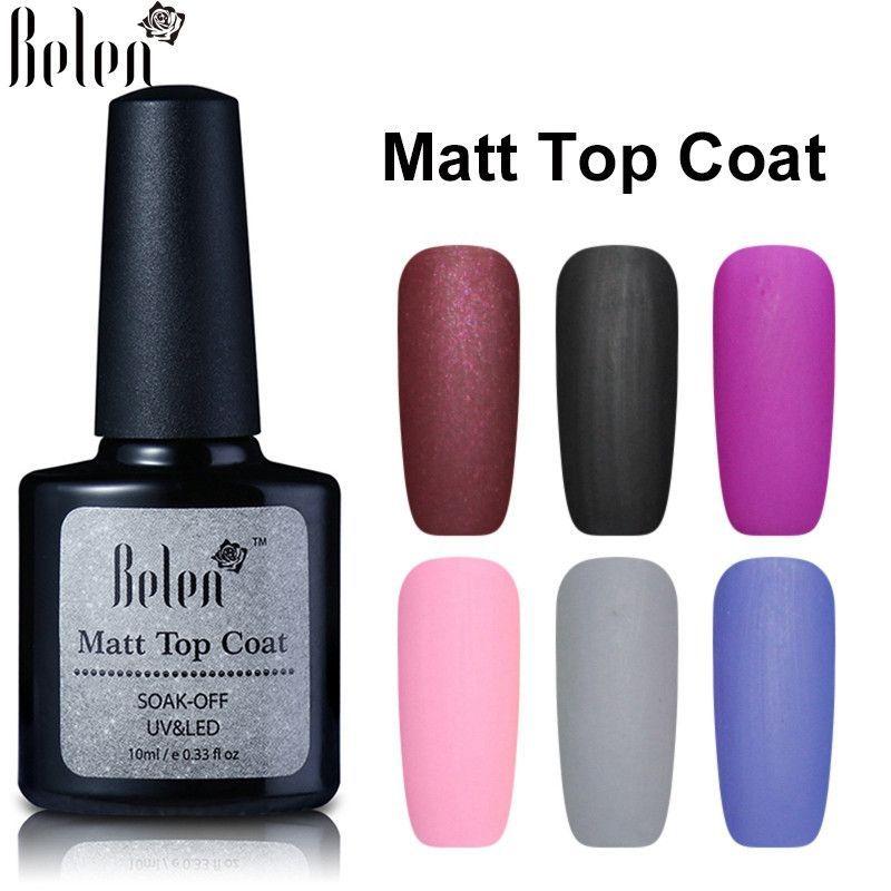 Belen 10ml Matt Top Matt Nail Polish Lacquer Matte Gel Polish Top Gel Nail Mat Vernis Matte Top Coat UV Gel Nail Primer Top Gel