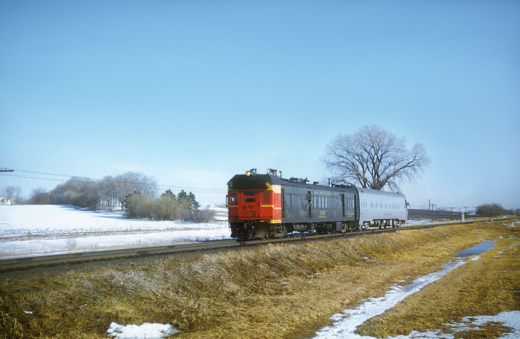Cbq pmc 9772 passenger days in february burlington