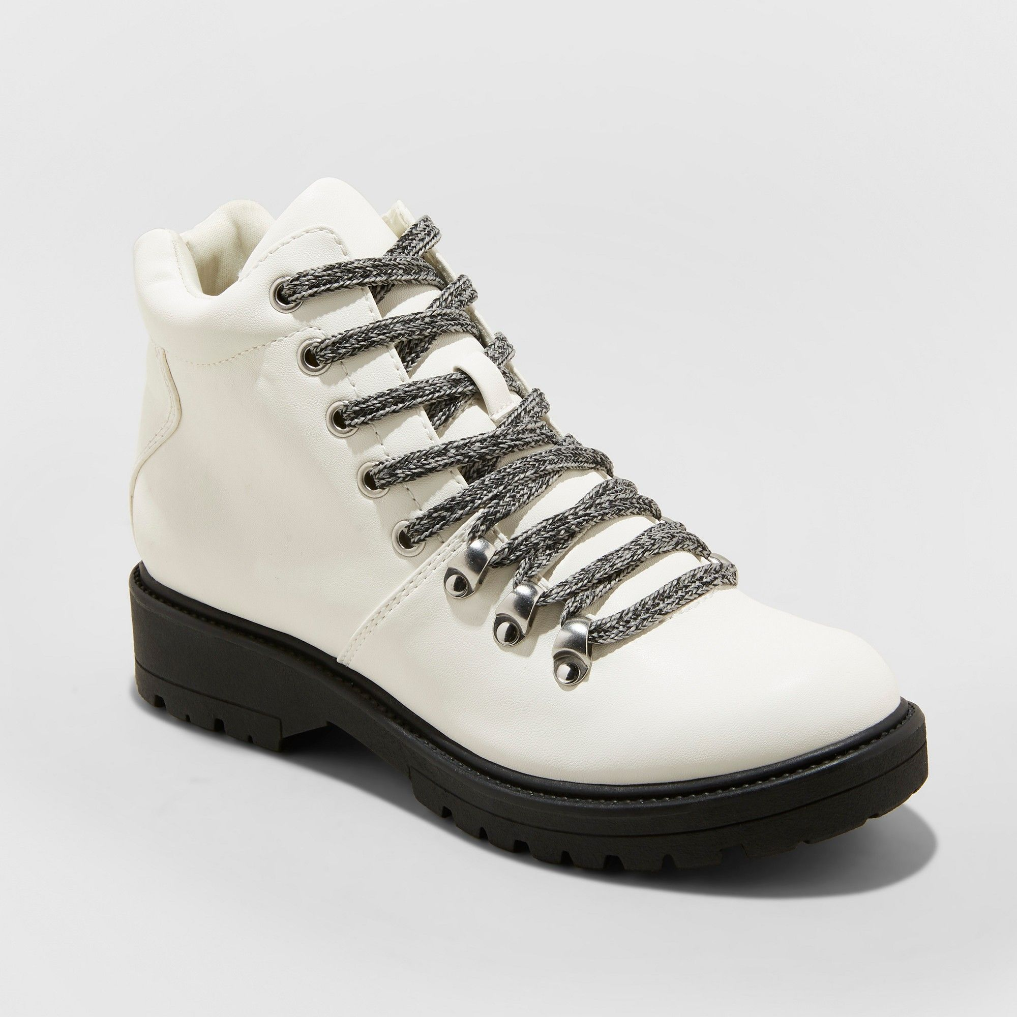 ab65a199f4b Women's Karri Lace Up Hiker Boots - Universal Thread White 12 ...