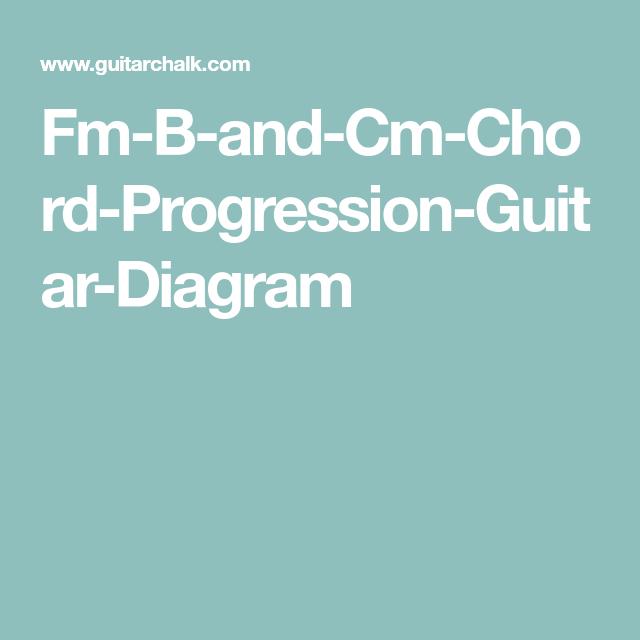 Fm B And Cm Chord Progression Guitar Diagram Chords Pinterest