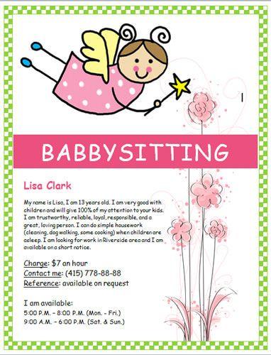 Free Babysitting Flyer Free Flyer Template By Hloom Com