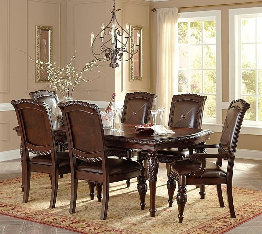 Steve Silver Antoinette Rectangular Dining Set Inch With Leaf - 84 inch dining room table