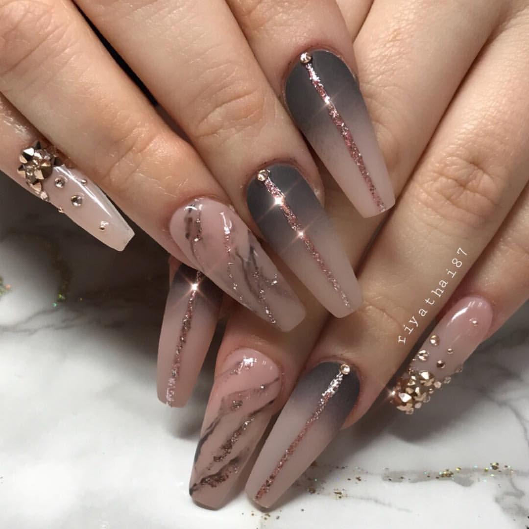 Riya S Nailsalon Riyathai87 On Instagram Nail Designs Bling Nails Nail Art