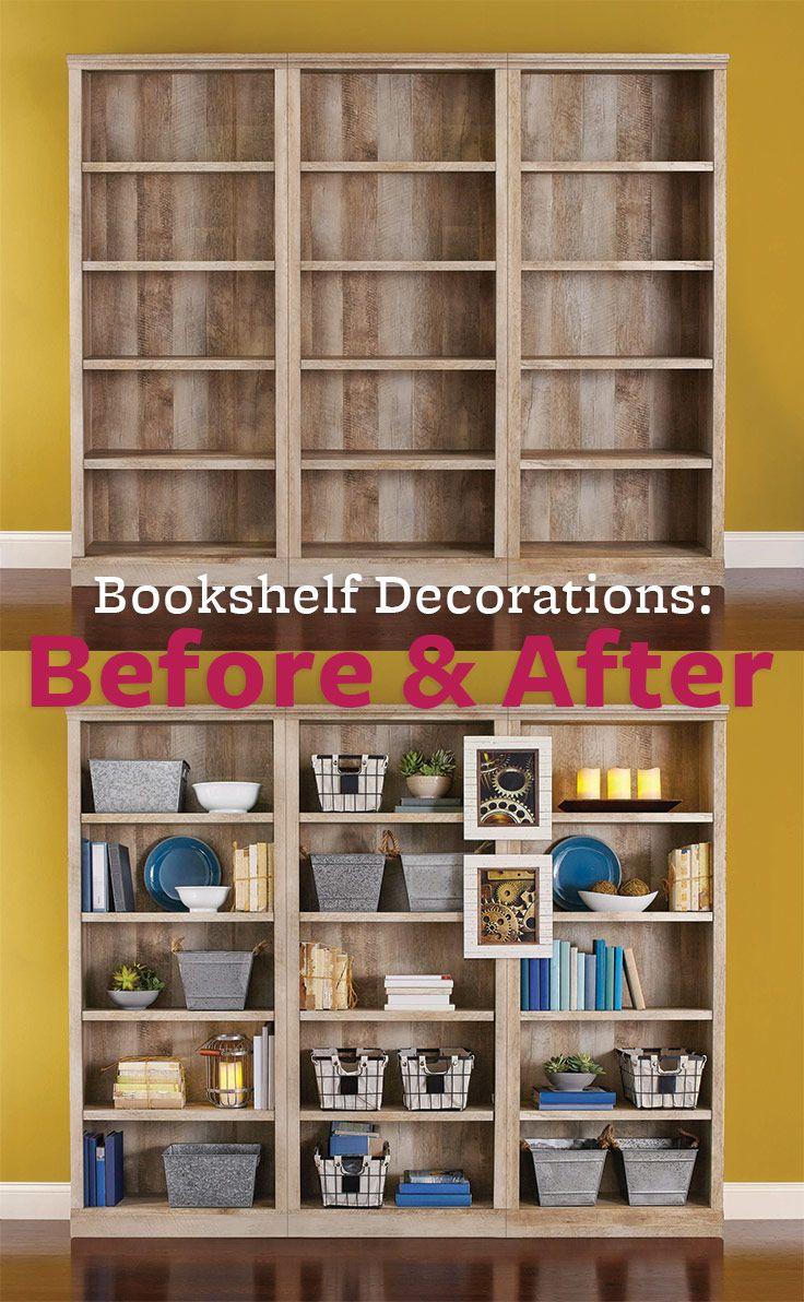 better homes and gardens crossmill 5-shelf bookcase, multiple