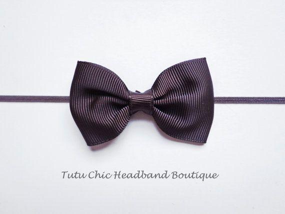 Brown Bow Headband: baby headbands, newborn headband, black headbands, infant headband, toddler headband, childrens headband