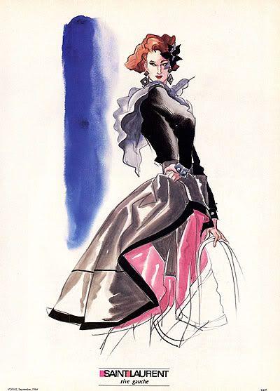 Yves Saint Laurent Ilustraciones De Moda Bocetos De Moda Y