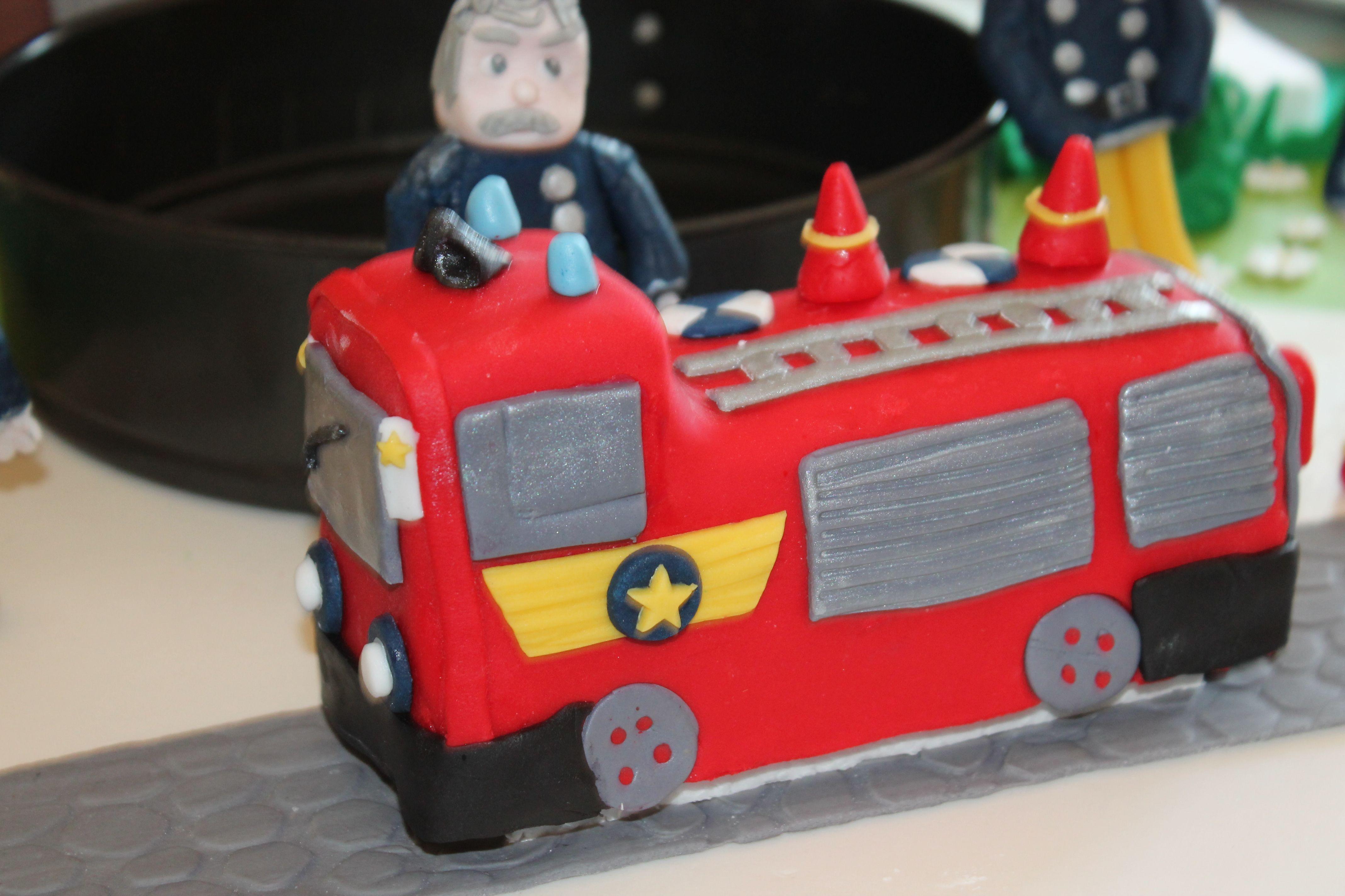 Torta sam il pompiere le torte decorate della cucina del
