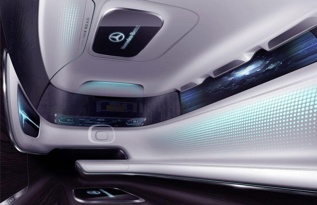 mercedes benz 39 s vision tokyo is a self driving car for the megacity car interior pinterest. Black Bedroom Furniture Sets. Home Design Ideas