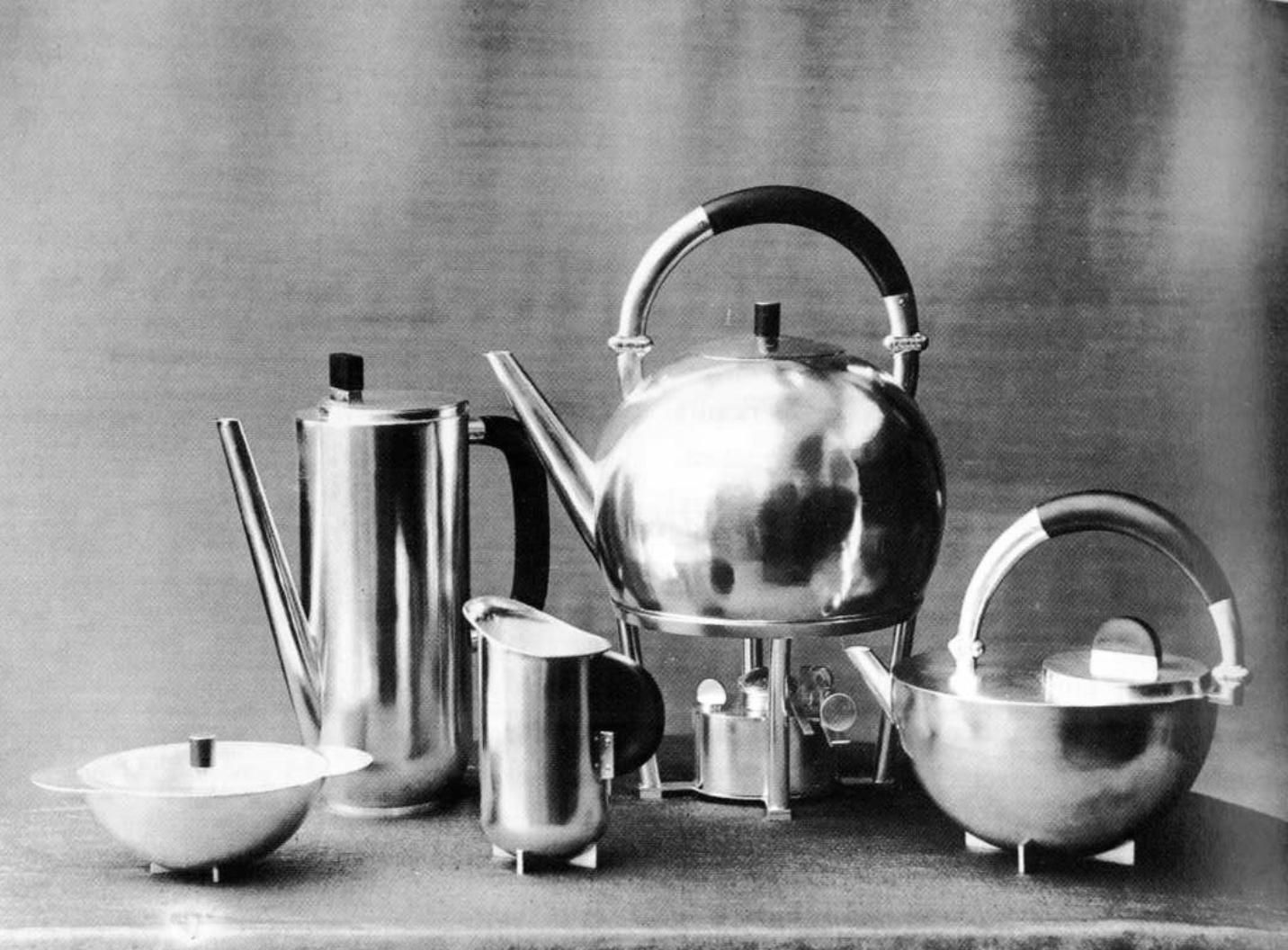 Bauhaus pendant lamp marianne brandt and hans przyrembel 1925 - The School Of Bauhaus Coffee And Tea Set 1924 Design By Marianne Brandt