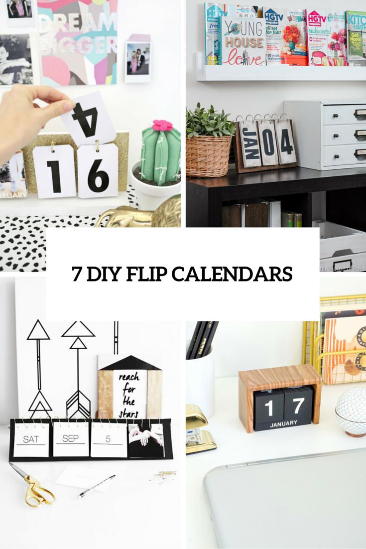 Cute DIY Flip Calendars To Welcome   DIYus world  Pinterest