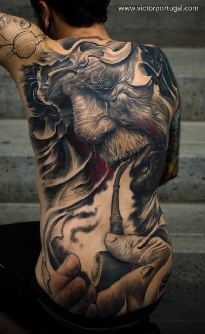17 Incredibly Realistic Tattoos Cool Back Tattoos Back Tattoos For Guys Back Tattoo