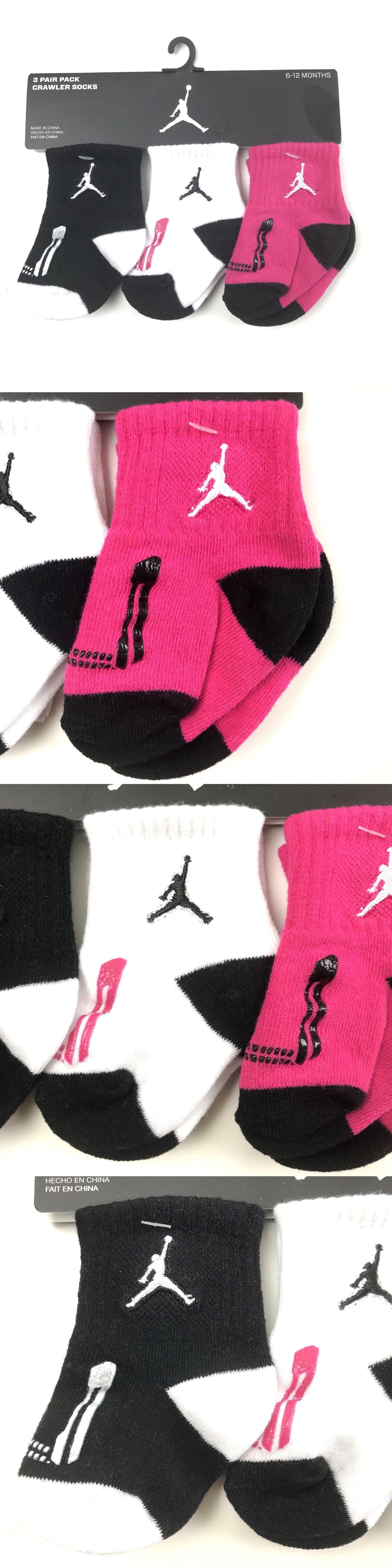 488aa47b4 Socks 57749: Nike 6-12 Mo Jordan Crawler Socks Set Black White Pink Jumpman  Baby Infant -> BUY IT NOW ONLY: $15.99 on #eBay #socks #jordan #crawler  #black ...