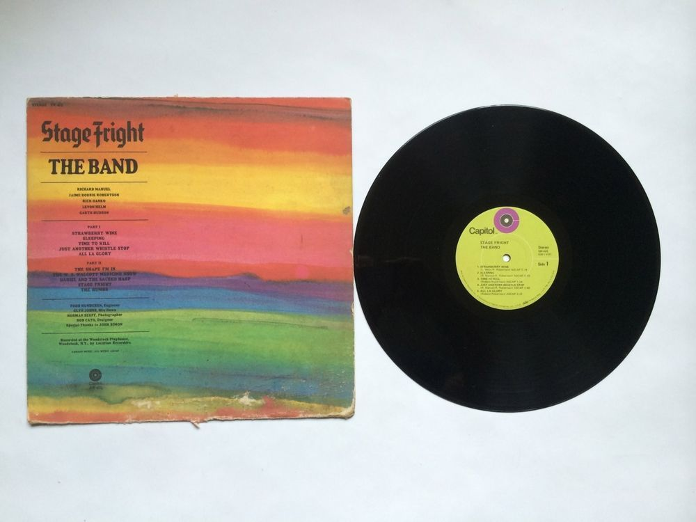 The Band - Stage Fright - Vinyl Record LP - Capitol Green Label