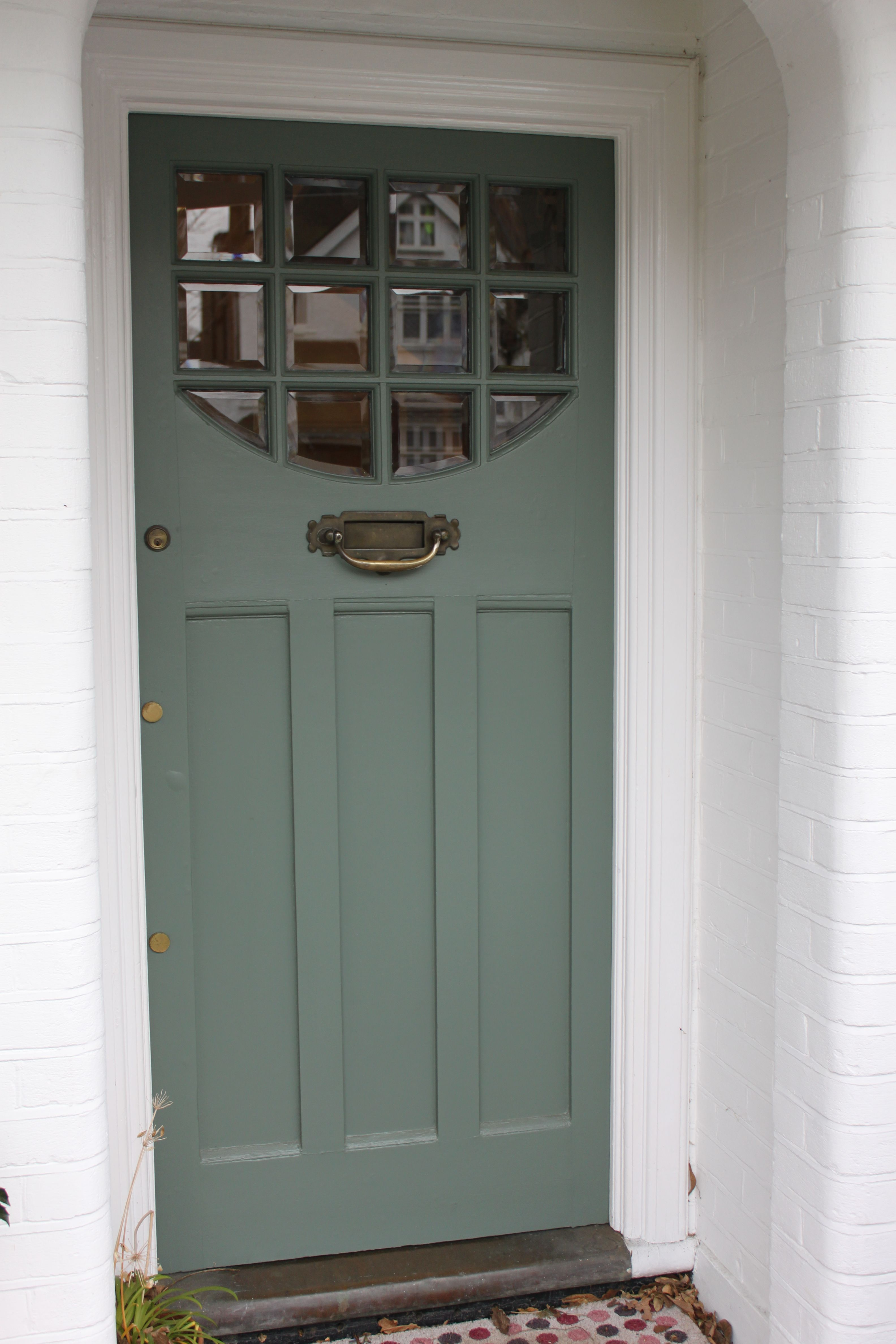1920s1930s front door with beveled clear glass in south west