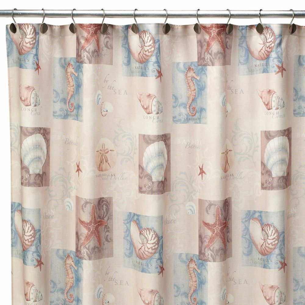Beachy shower curtains - Detalles Acerca De Beachy Shower Curtain Fabric Polyester Seaside Inspired Stylish Bathroom Designs