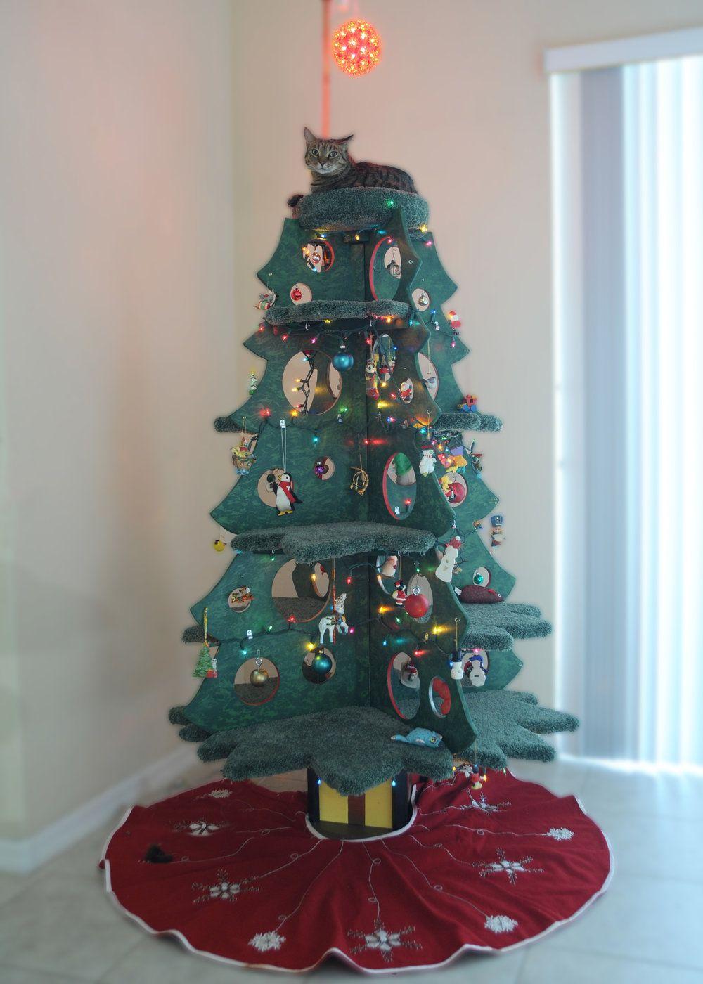 Catmas tree cat christmas tree christmas cats cat tree
