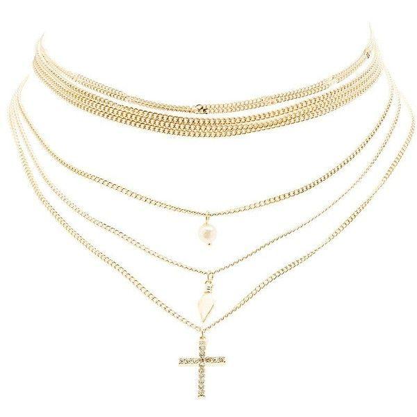 Leaves Multi-strand Necklace Chain Pendant