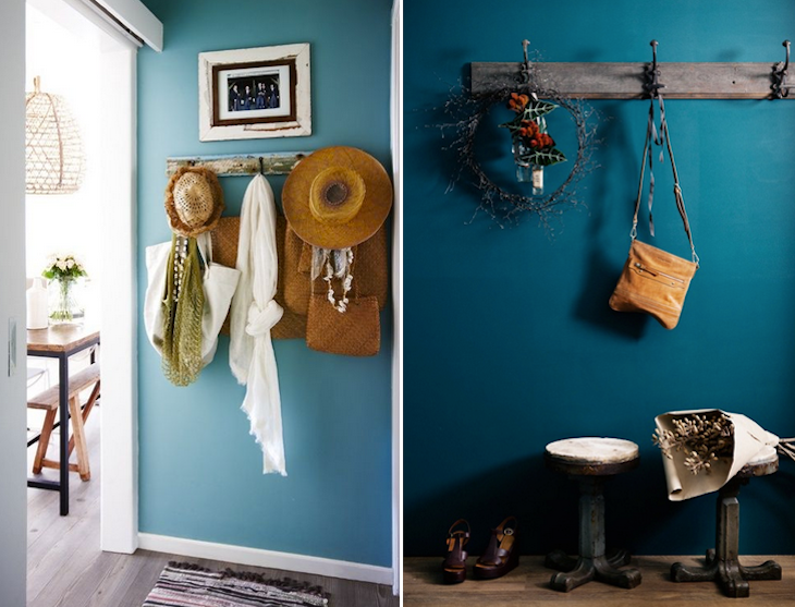 Something blue mon entr e bleue home pinterest for Couloir turquoise