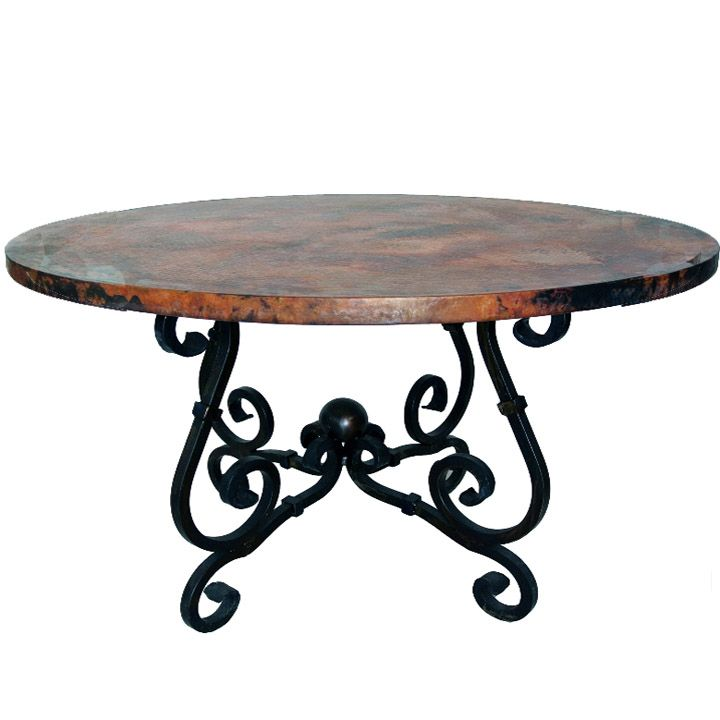 French Dining Table W 60 Or 72 Copper Top French Dining