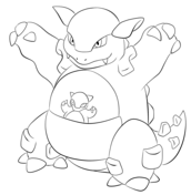 Kangaskhan From Generation I Pokemon Coloring Pages Pokemon Pokemon Birthday