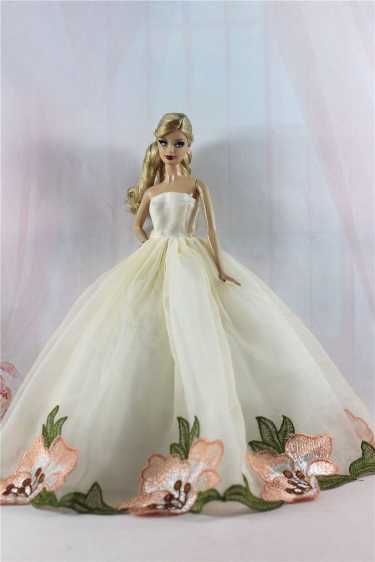 4 x Fashion Princess Dress/Wedding Clothes/Gown For Barbie Doll ...