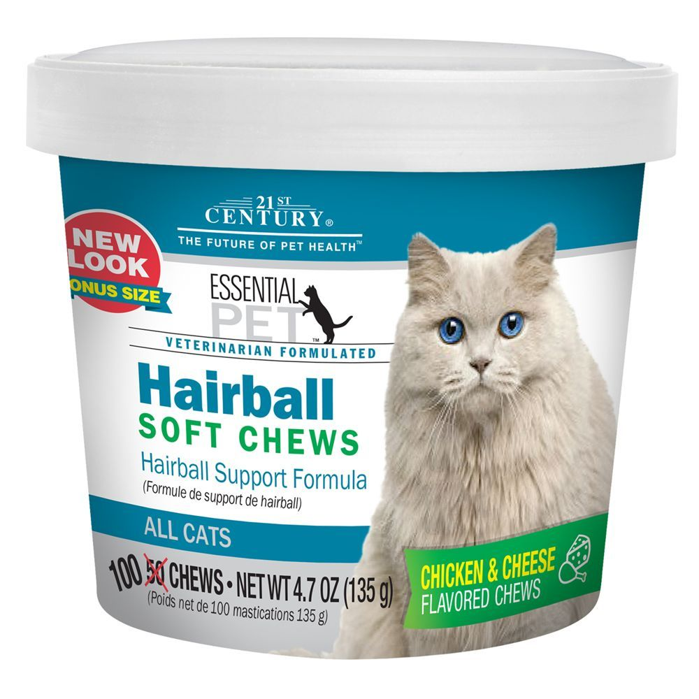 21st Century Essential Pet Hairball Soft Cat Chews Size 100 Count Over 6 Weeks Cat Care Cat Care Tips Cat Help