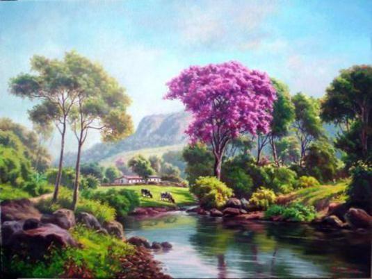 Tulio Dias Realistic Landscape Paintings Landscape Painting Artists Landscape Art Landscape Paintings