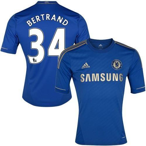 Chelsea #34 Ryan Bertrand Blue Home Soccer Club Jersey