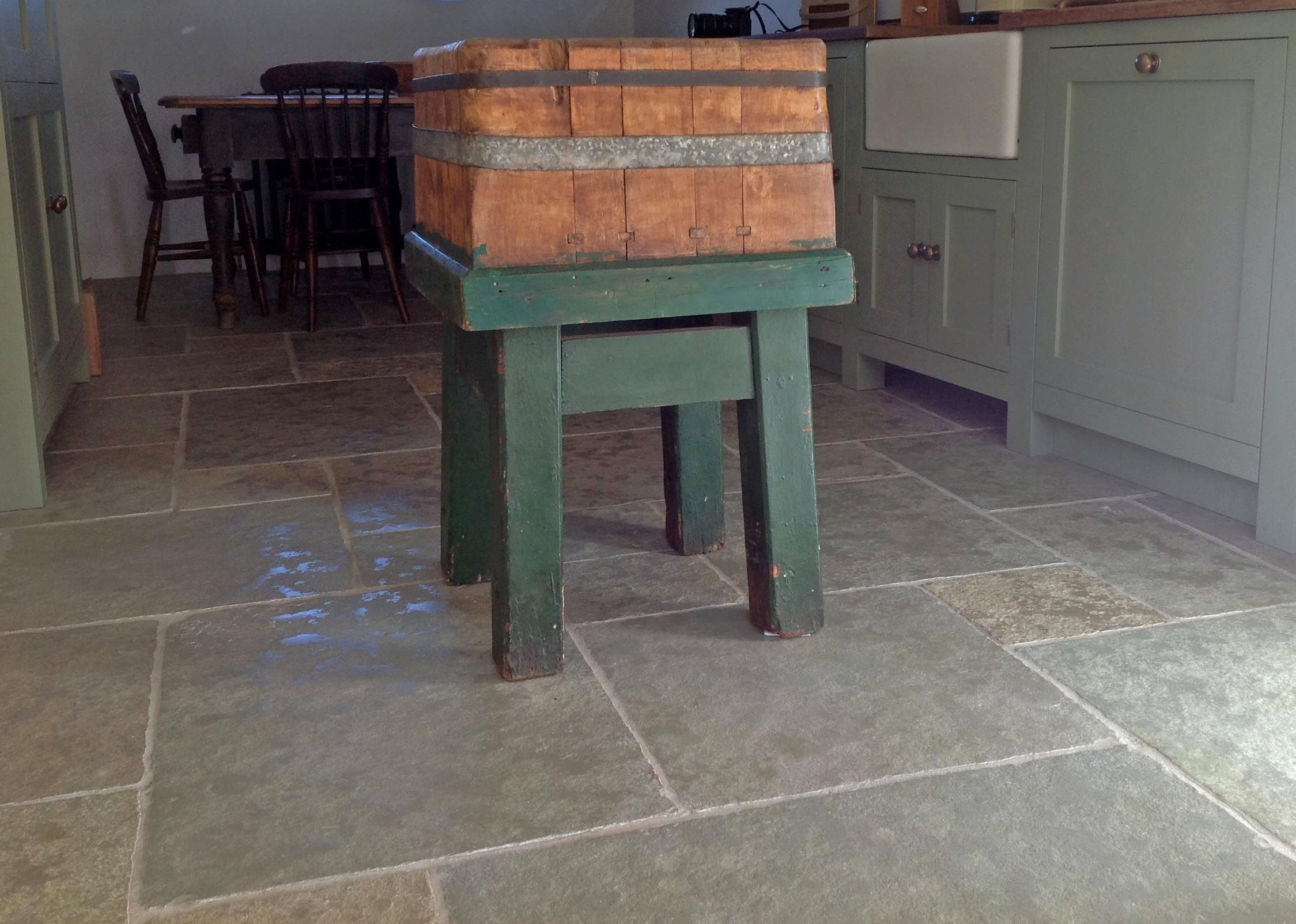 Rustic kitchen floor tiles in cathedral antique limestone which rustic kitchen floor tiles in cathedral antique limestone which are finished to resemble an aged stone doublecrazyfo Gallery