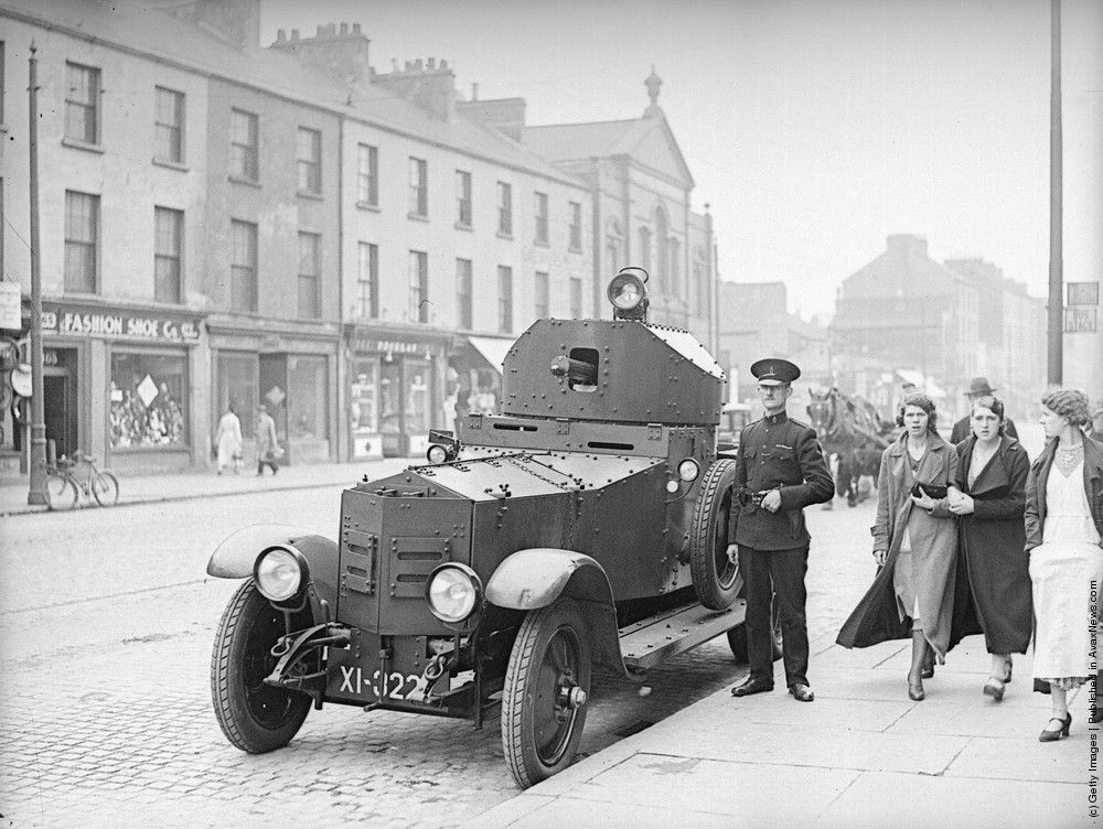 A British Army Rolls Royce Armoured Car Outside The Royal Ulster