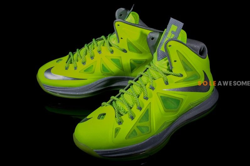 super popular 67858 0e0f8 Nike LeBron X Volt Wolf Grey-Pure Platinum Running Sneakers, Running Shoes,